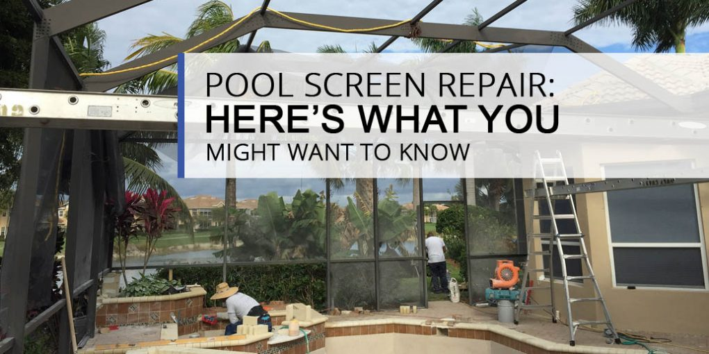 Pool Screen Repair We Do That