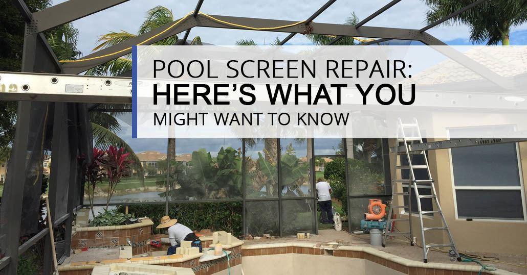 Pool Screen Repair We Do That