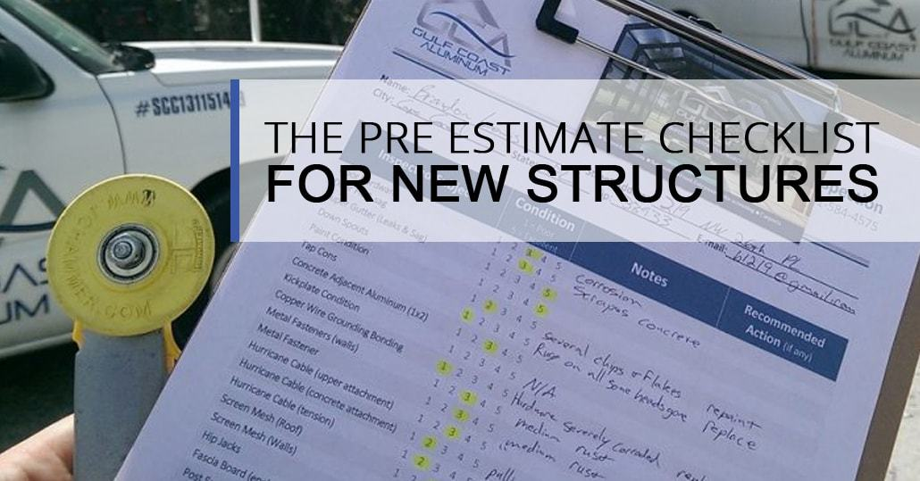 The Pre Estimate Checklist For New Structures