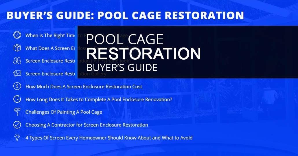 Pool S Cage Restoration Buyer S Guide Gulf Coast Aluminum