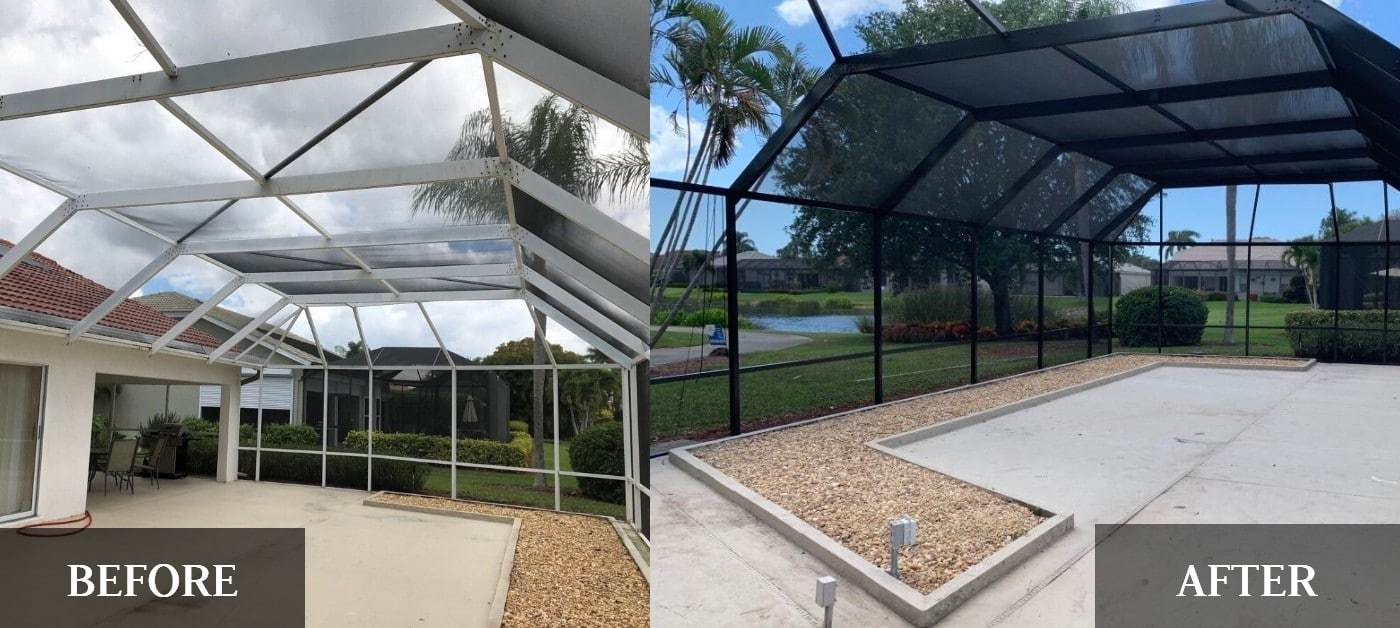 Leveling Up A Pool Cage In Fort Myers Fl