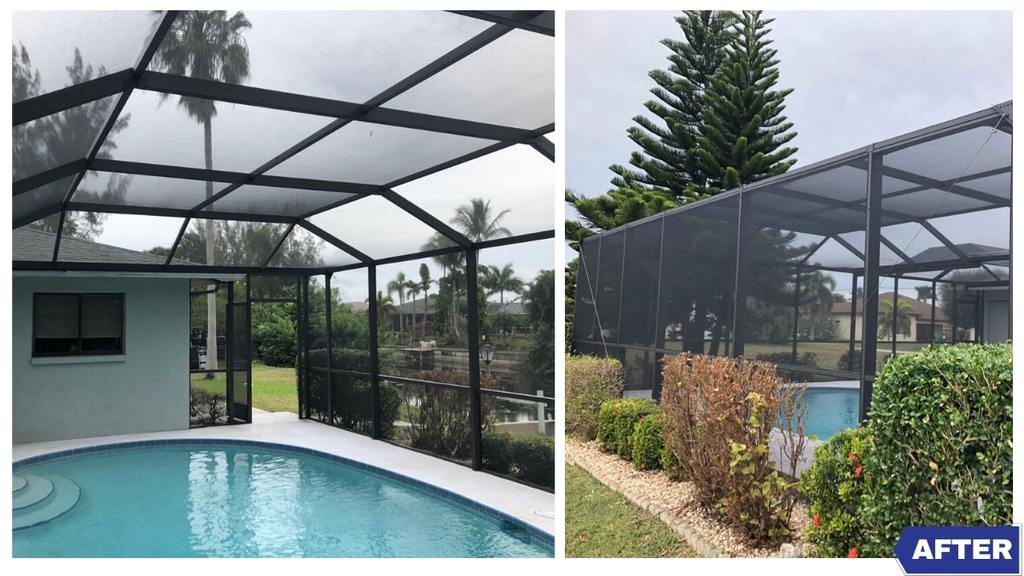 Making A Pool Cage In Cape Coral Look New Again Gulf