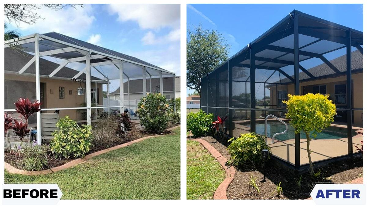 Newly Restored Enclosure Makes Patio In Cape Coral Pop